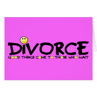 Witty divorce greeting card