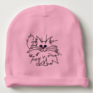Witty Kitty Baby Knit Cap Baby Beanie