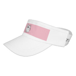 Witty Kitty Custom Woven Visor, White Visor