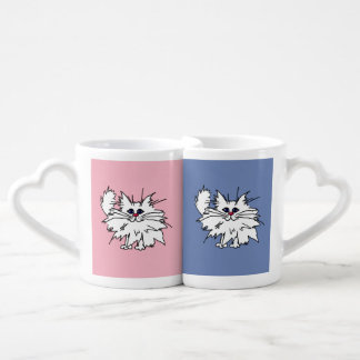 Witty Kitty Heart Mugs