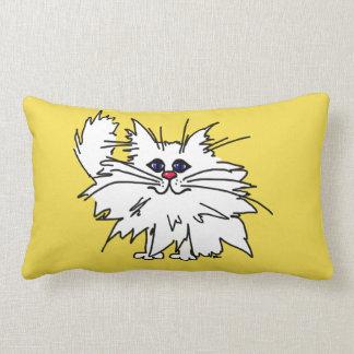 Witty Kitty Polyester Throw Pillow