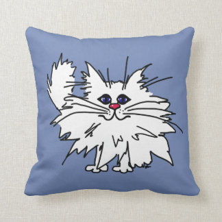 Witty Kitty Square Pillow 16X16