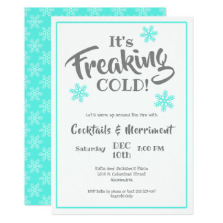 Witty Winter Cocktail Party Card