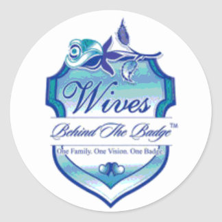 Wives Behind The Badge Round Sticker