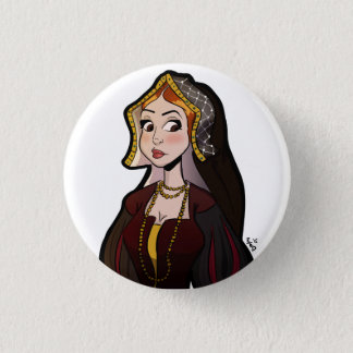 Wives of Henry VIII Badge - Catherine of Aragon 1 Inch Round Button