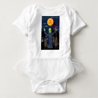Wizard and Evil Raccoons Baby Bodysuit