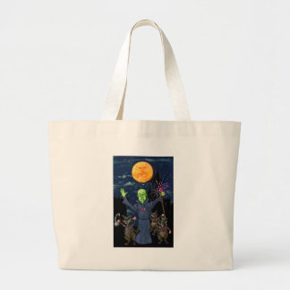 Wizard and Evil Raccoons Large Tote Bag