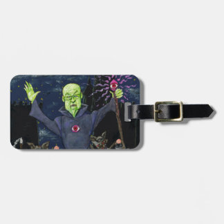 Wizard and Evil Raccoons Luggage Tag