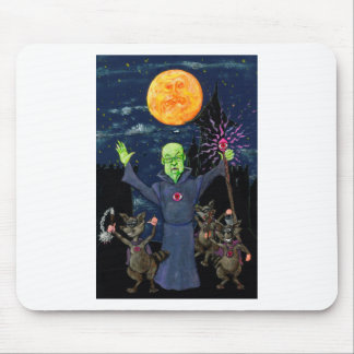 Wizard and Evil Raccoons Mouse Pad