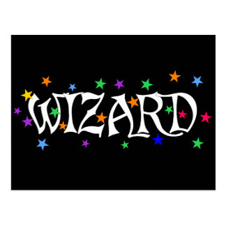 Wizard and Stars Postcard