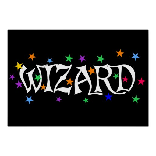 Wizard and Stars Print