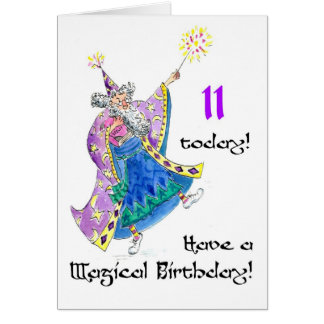 'Wizard' Birthday Card for a 11-year-old