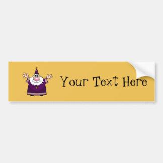 Wizard casting spell bumper sticker