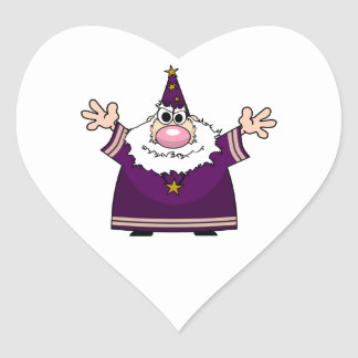 Wizard casting spell heart sticker