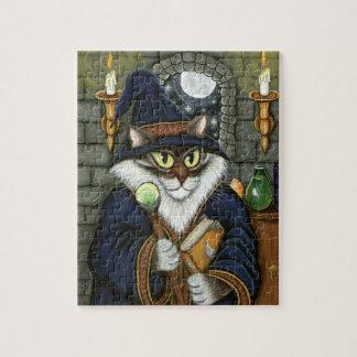 Wizard Cat Merlin Magician Magic Sorcerer Puzzle