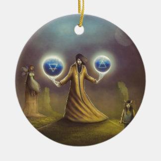 wizard fantasy magic ceramic ornament