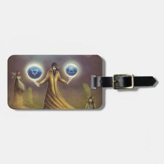 wizard fantasy magic luggage tag