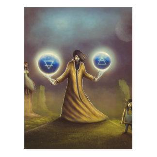 wizard fantasy magic postcard