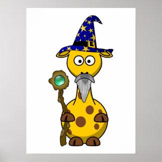Wizard Giraffe Cartoon Posters