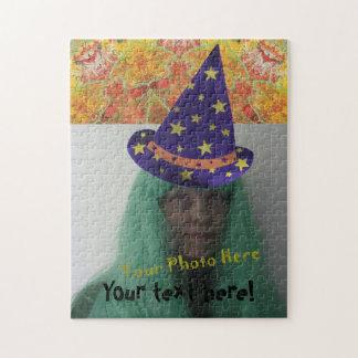 Wizard Hat Add Photo Halloween Jigsaw Puzzles