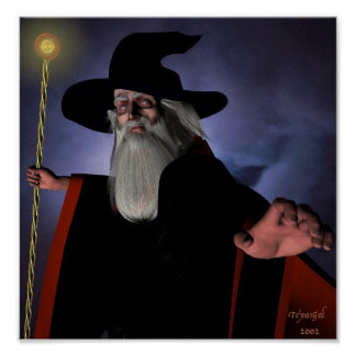 Wizard in Black Poster