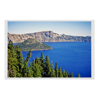 Wizard Island - Crater Lake National Park Posters