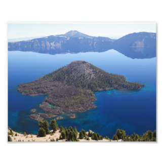Wizard Island in Crater Lake Photo Print