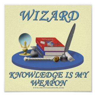 Wizard: Knowledge is My Weapon Poster