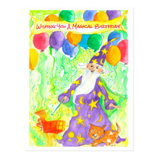 Wizard Magic Happy Birthday Postcard