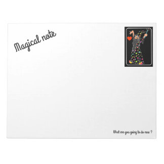 wizard magically notepad