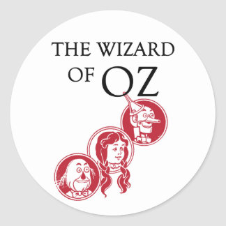 Wizard of Oz Characters Classic Round Sticker