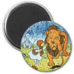 Wizard of Oz Dorothy and the Cowardly Lion Fridge Magnets