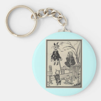 Wizard of Oz Dorothy and the Scarecrow Basic Round Button Keychain