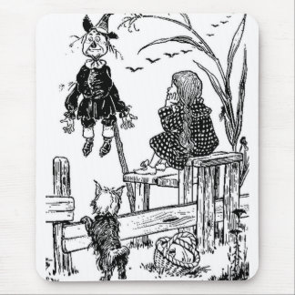 Wizard of Oz Dorothy Toto and the Scarecrow Mouse Pad