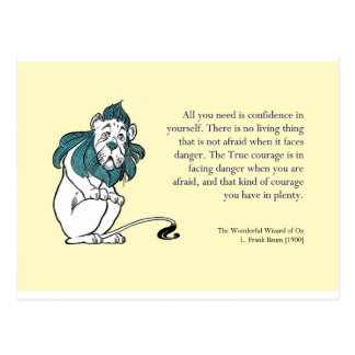 Wizard of Oz Encouragement Postcard