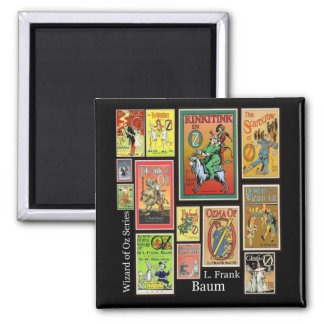 Wizard of Oz L Frank Baum Collage Magnet