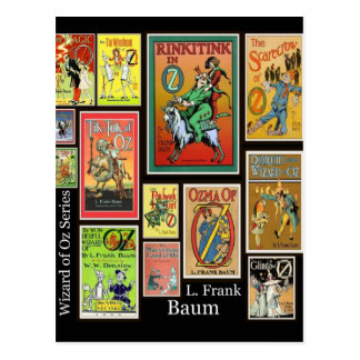 WIzard of Oz L Frank Baum Collage Postcards