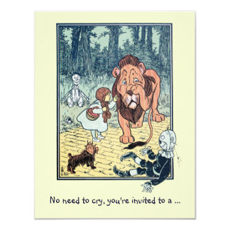 Wizard of Oz Lion, Boy Birthday Party Invitation