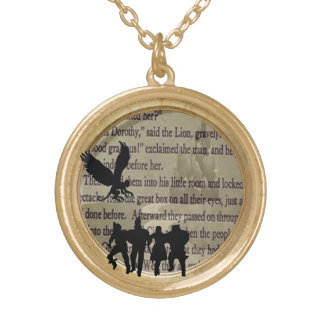 wizard of oz silhouettes necklace