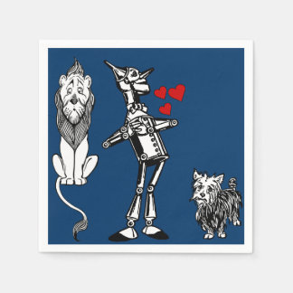 Wizard of Oz, Tin Man, Toto, Cowardly lion party Disposable Napkins