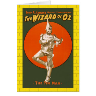 Wizard Of Oz Tin Man - Vintage Musical Theater Card