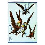 Wizard of Oz Winged monkeys flying monkeys Card