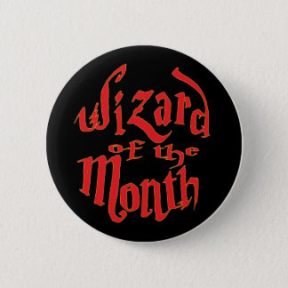 wizard of the month 2 inch round button