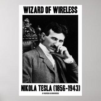 Wizard Of Wireless Nikola Tesla (1856-1943) Poster