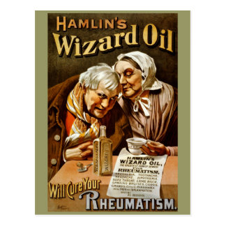 Wizard Oil Vintage Advertisement Postcard