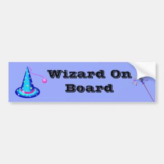 """""""Wizard On Board"""" Bumper Sticker"""