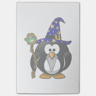 Wizard Penguin Cartoon Post-it® Notes