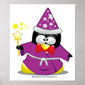 Wizard Penguin Print
