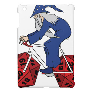 Wizard Riding Bike With 20 Sided Dice Wheels Cover For The iPad Mini