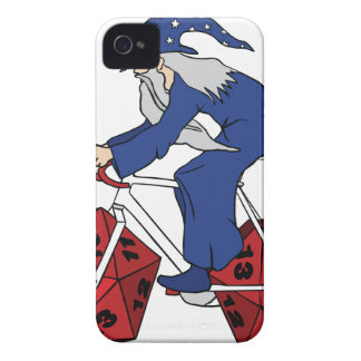 Wizard Riding Bike With 20 Sided Dice Wheels iPhone 4 Covers